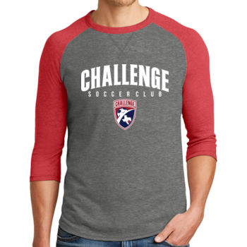 Challenge SC Arch - White w/ Crest - Alternative Dugout 3/4 Sleeve Vintage 50/50 Tee Thumbnail