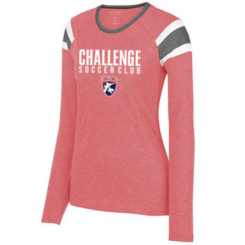 Challenge SC - White w/ Crest - Ladies Long Sleeve Fanatic Tee Thumbnail