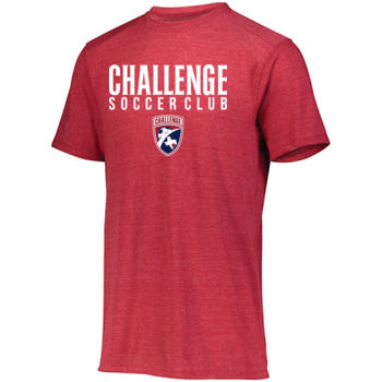 Challenge SC - white w/ Crest - Youth Tri-Blend T-Shirt Thumbnail