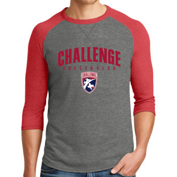 Challenge SC Arch - Red w/ Crest - Alternative Dugout 3/4 Sleeve Vintage 50/50 Tee Thumbnail