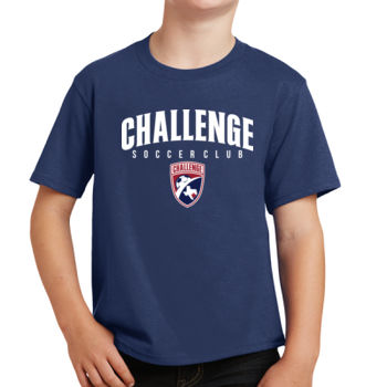 Challenge SC Arch - White w/ Crest - Youth Fan Favorite Tee Thumbnail