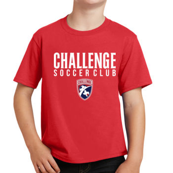 Challenge SC - White w/ Crest - Youth Fan Favorite Tee Thumbnail